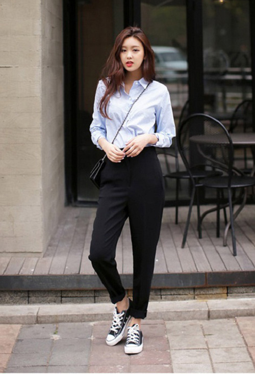 Kết hợp giày với quần tây nữ 1