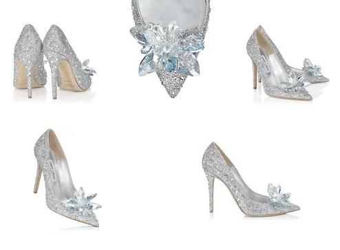 Giày cao gót đính đá sang trọng cho cô dâu trong ngày cưới
