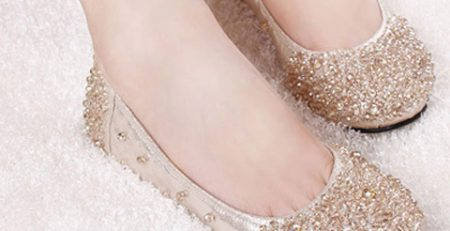 Giày búp bê là sự lựa chọn hàng đầu cho các cô dâu không đi được giày cao gót