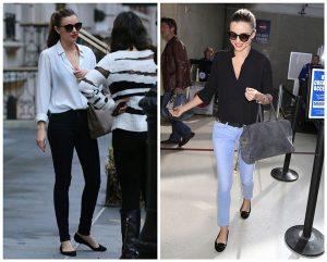 Miranda Kerr đầy quyến rũ với quần jean và giày bệt khi đi ngoài phố