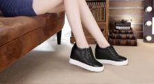Zg giày độn gót nữ hà nội 7cm màu Hồng hot trends suede