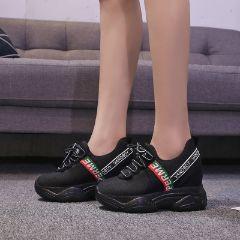 Zg giày độn nữ giá rẻ 7cm màu Vàng cao cấp miếng dán