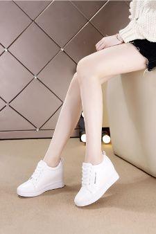 Zg giầy thể thao giấu gót nữ 12cm WINNI BLACK SUEDE WINNI Kiểu dáng công nghiệp thoáng khí
