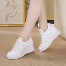Zg giày thể thao tăng chiều cao nữ 12cm màu Đỏ Kiểu dáng công nghiệp thoáng khí
